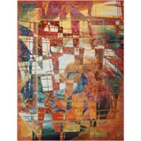 """Nourison Celestial 5'3"""" x 7'3"""" Machine Woven Area Rug in Stained Glass"""