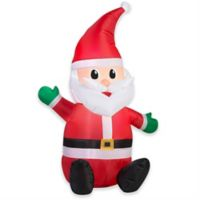 Gemmy Seated Santa 42-Inch Airblown® Inflatable Lawn Character