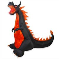 Gemmy Fire and Ice Dragon 84-Inch Projection™ Airblown® Inflatable Lawn Character