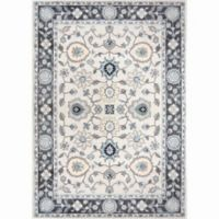 Home Dynamix Oxford Border 9-Foot 2-Inch x 12-Foot 5-Inch Area Rug in Grey