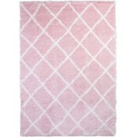 Home Dynamix Oxford 30-Inch x 51-Inch Shag Accent Rug in Pink