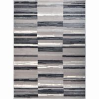 Home Dynamix Oxford Blocks 9-Foot 2-Inch x 12-Foot 5-Inch Area Rug in Taupe