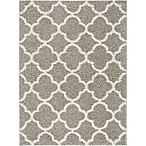 Home Dynamix Synergy Trellis 5-Foot 2-Inch x 7-Foot 2-Inch Area Rug in Silver