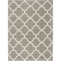 Home Dynamix Synergy Trellis 9-Foot 2-Inch x 12-Foot 5-Inch Area Rug in Silver