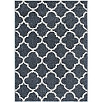 Home Dynamix Synergy Trellis 7-Foot 9-Inch x 10-Foot 2-Inch Area Rug in Blue