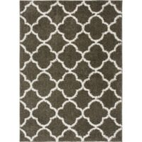 Home Dynamix Synergy Trellis 5-Foot 2-Inch x 7-Foot 2-Inch Area Rug in Grey
