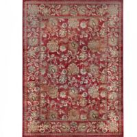 Verona Floral 5-Foot 3-Inch x 7-Foot 7-Inch Area Rug in Red