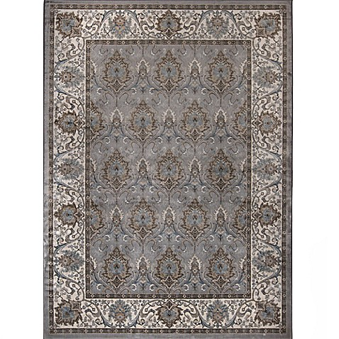 image of Verona Traditional Border Rug in Grey
