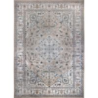 Verona Medallion 3-Foot 3-Inch x 4-Foot 7-Inch Accent Rug in Blue/Tan