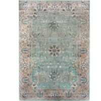 Verona Atlantis 3-Foot 3-Inch x 4-Foot 7-Inch Accent Rug in Light Blue/Tan