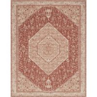 Magnolia Home by Joanna Gaines Tristin Medallion 4-Foot x 6-Foot Area Rug in Brick