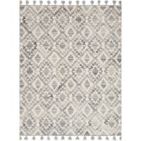 Magnolia Home by Joanna Gaines Teresa 2-Foot 6-Inch x 7-Foot 6-Inch Runner in Ivory/Silver