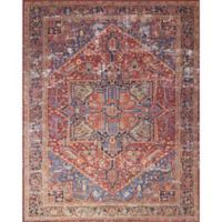 Magnolia Home by Joanna Gaines Lucca 3-Foot 9-Inch x 5-Foot 6-Inch Area Rug in Red/Blue