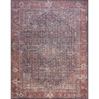 Magnolia Home by Joanna Gaines Lucca 2-Foot 3-Inch x 3-Foot 9-Inch Accent Rug in Navy/Red