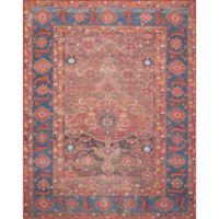 Magnolia Home by Joanna Gaines Lucca 2-Foot 3-Inch x 3-Foot 9-Inch Accent Rug in Rust/Blue