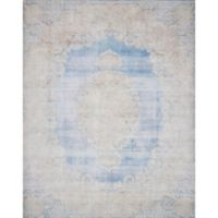 Magnolia Home by Joanna Gaines Lucca 2-Foot 6-Inch x 7-Foot 6-Inch Runner in Light Blue/Sand