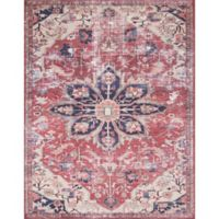 Magnolia Home by Joanna Gaines Lucca 5-Foot x 7-Foot 6-Inch Area Rug in Rust/Ivory