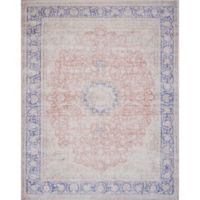 Magnolia Home by Joanna Gaines Lucca 3-Foot 9-Inch x 5-Foot 6-Inch Area Rug in Terracotta/Blue