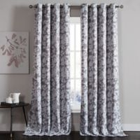 Kensie Ainna 84-Inch Rod Pocket Window Curtain Panel Pair in Grey