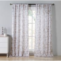Kensie Ainna 84-Inch Rod Pocket Window Curtain Panel Pair in Taupe
