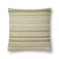 Magnolia Home by Joanna Gaines Mikey Square Throw Pillow in Sage/Ivory