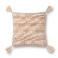 Magnolia Home by Joanna Gaines Teresa 18-Inch Square Throw Pillow in Blush/Ivory