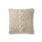 Magnolia Home by Joanna Gaines Adeline 18-Inch Square Throw Pillow in Beige