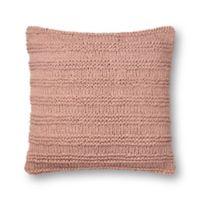 Magnolia Home by Joanna Gaines Amelia Square Throw Pillow in Blush