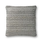 Magnolia Home by Joanna Gaines Amelia 22-Inch Square Throw Pillow in Grey
