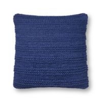 Magnolia Home by Joanna Gaines Amelia Square Throw Pillow in Navy