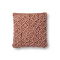 Magnolia Home by Joanna Gaines Taylor 18-Inch Square Throw Pillow in Blush