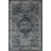 Magnolia Home Everly by Joanna Gaines 7-Foot 10-Inch Round Area Rug in Grey/Midnight