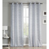 Kensie Krisna 96-Inch Grommet Top Window Curtain Panel Pair in Taupe/Grey