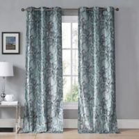 Kensie Beverly 96-Inch Grommet Top Window Curtain Panel Pair in Teal