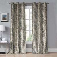 Kensie Beverly 96-Inch Grommet Top Window Curtain Panel Pair in Taupe