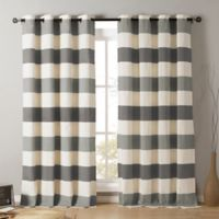 Kensie Iouri 84-Inch Grommet Top Window Curtain Panel Pair in Grey