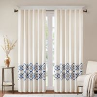 Bombay Akemi 84-Inch Rod Pocket/Back Tab Room Darkening Window Curtain Panel in Blue