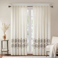 Bombay Akemi 84-Inch Rod Pocket/Back Tab Room Darkening Window Curtain Panel in Gold