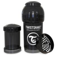 Twistshake 6 oz. Plastic Anti-Colic Baby Bottle in Black