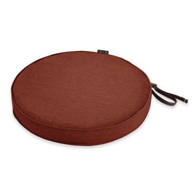 classic accessories montlake fadesafe 15inch round dining seat cushion in red