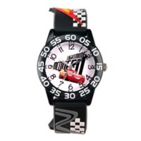 Disney® Cars 3 Children's Lightening McQueen Time Teacher Watch in Plastic w/3D Plastic Strap