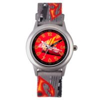 Disney® Cars 3 Children's Lightning McQueen Time Teacher Watch in Stainless Steel w/Nylon Strap