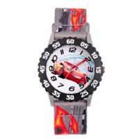 Disney® Cars 3 Children's Lightning McQueen Time Teacher Watch in Black w/Grey Nylon Strap