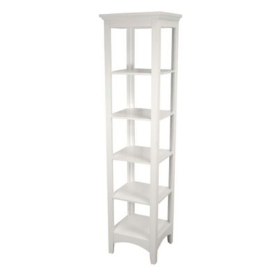 elegant home fashions helen linen tower in white buy bathroom storage tower from bed bath