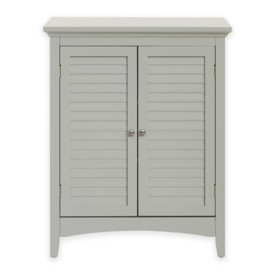 Superieur Elegant Home Fashions Hanna Floor Cabinet With 2 Shutter Doors In Grey