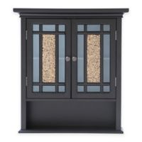 Elegant Home Fashions Margret 2-Door Wall Cabinet in Dark Espresso
