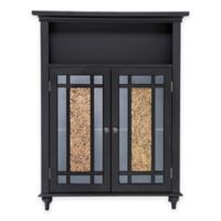 Elegant Home Fashions Double Door Floor Cabinet in Dark Espresso