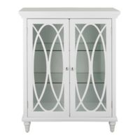 Elegant Home Fashions Charlotte 2-Door Floor Cabinet in White