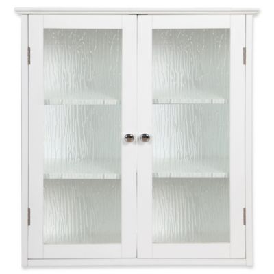 Elegant Home Fashions Olivia 2 Door Wall Cabinet In White