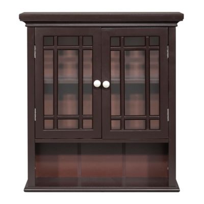 hadley 2 door bath wall cabinet in dark espresso - Bathroom Cabinets Bed Bath And Beyond